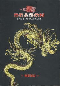Dragon Bar and Restaurant Menu
